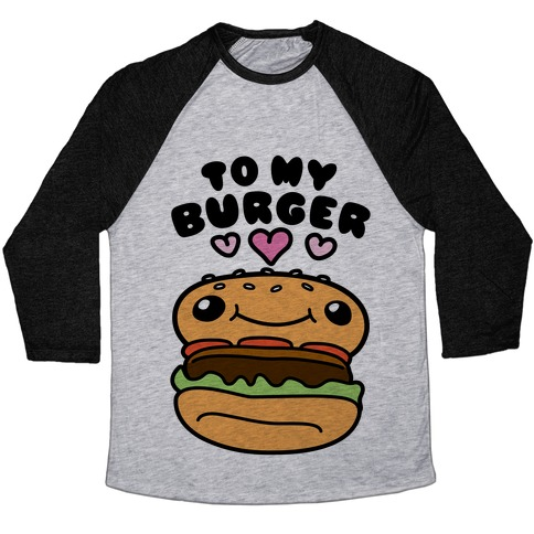 Pretzel Burger Pair Baseball Tee