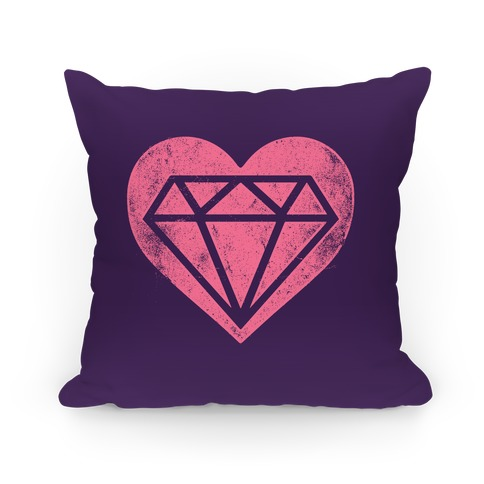 Diamond Heart Pillow