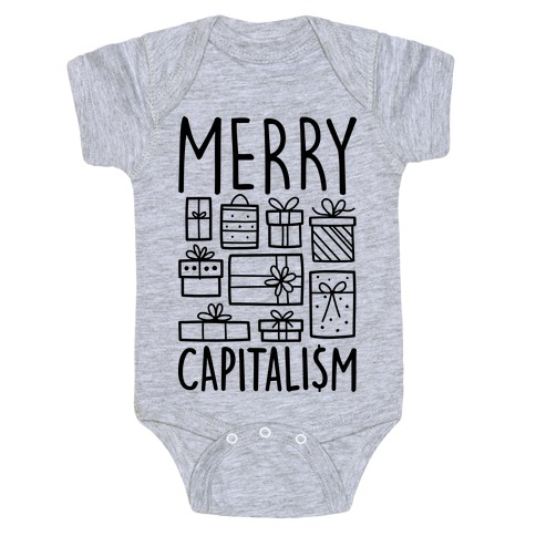Merry Capitalism Baby Onesy