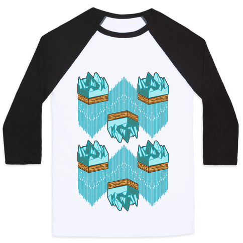 3d Ice Slice Baseball Tee
