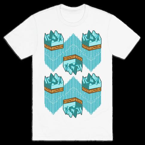 3d Ice Slice Mens T-Shirt