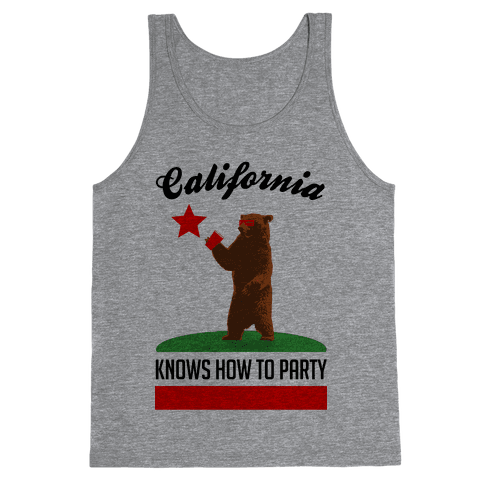 California Knows How to Party Tank Top