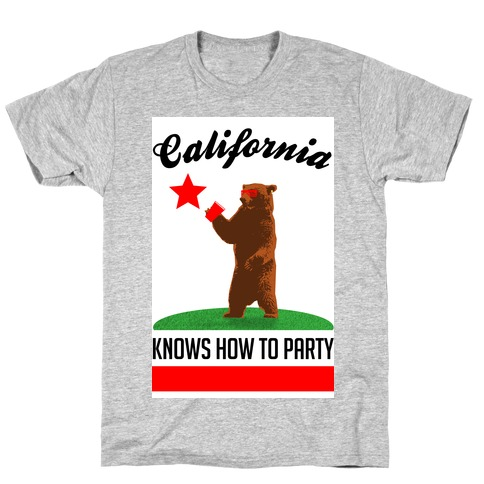 California Knows How to Party Mens T-Shirt