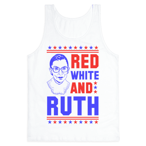 Red White and Ruth Tank Top