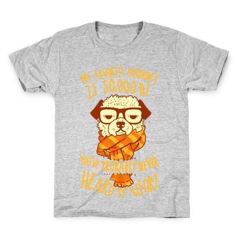 Hipster Dog Kids T-Shirt
