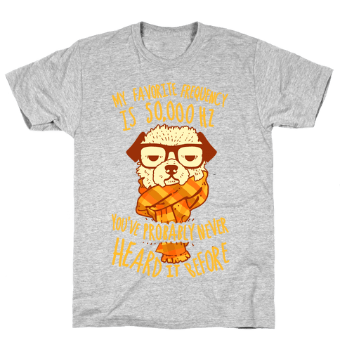 Hipster Dog Mens T-Shirt