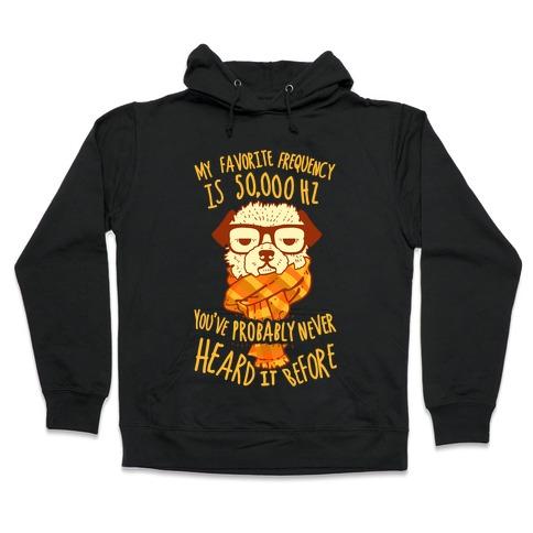 Hipster Dog Hooded Sweatshirt