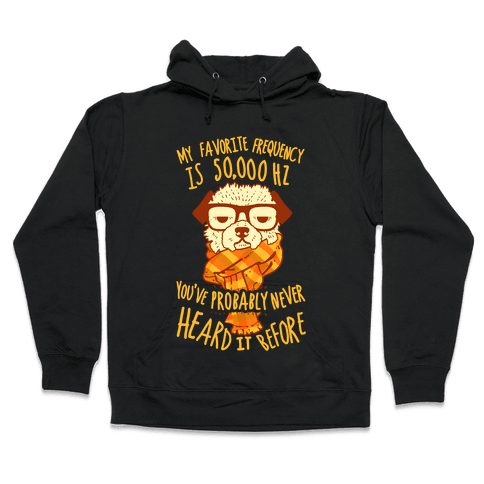 Hipster Dog Hooded Sweatshirt
