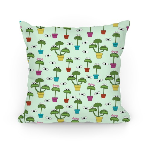 Venus Fly Trap Pattern Pillow
