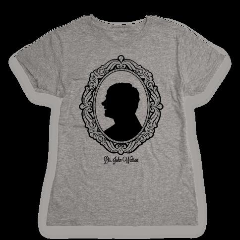 Dr. John Watson Cameo Womens T-Shirt