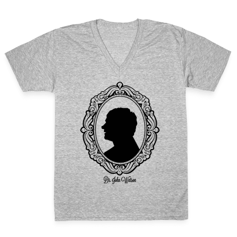 Dr. John Watson Cameo V-Neck Tee Shirt