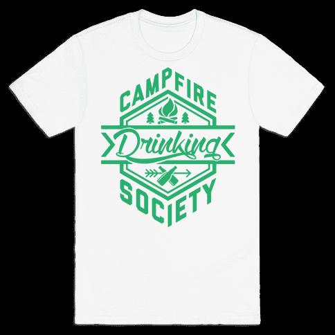 Campfire Drinking Society Mens T-Shirt