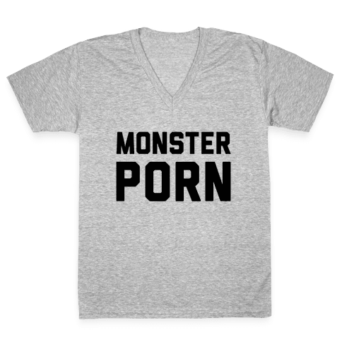 Monster Porn V-Neck Tee Shirt