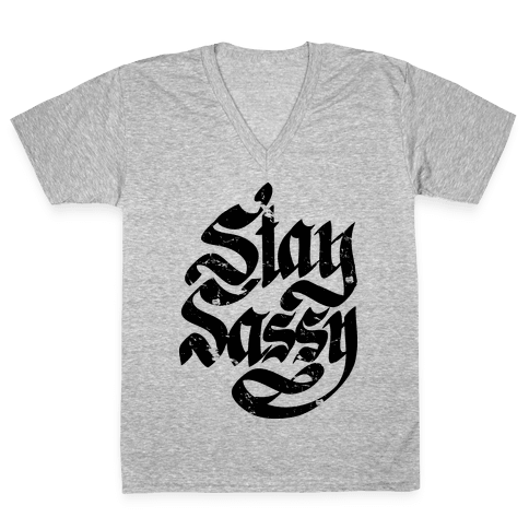 Stay Sassy V-Neck Tee Shirt