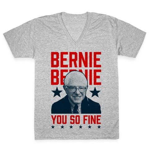 Bernie Bernie You So Fine V-Neck Tee Shirt