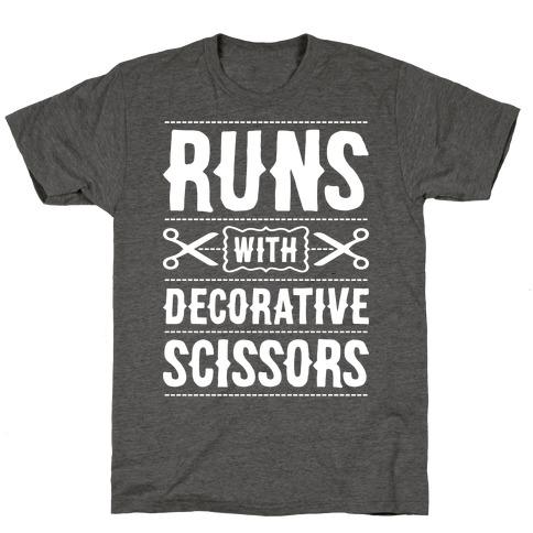 Runs With Decorative Scissors T-Shirt
