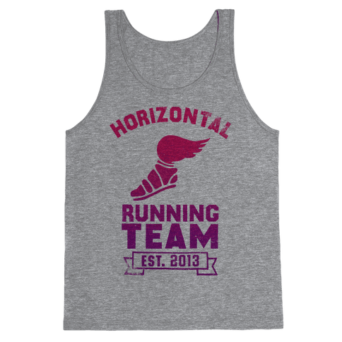 Horizontal Running Team Tank Top