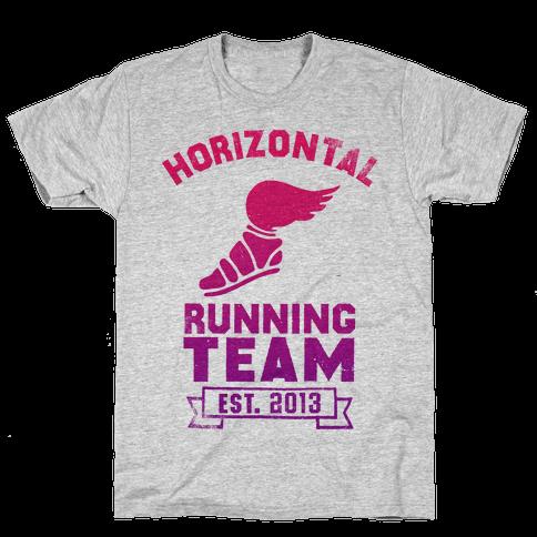 Horizontal Running Team Mens T-Shirt