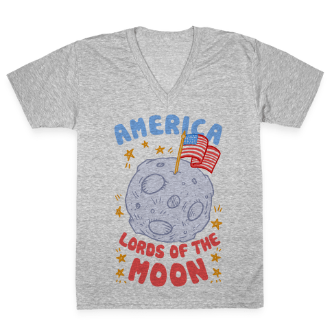 America: Lords of the Moon V-Neck Tee Shirt