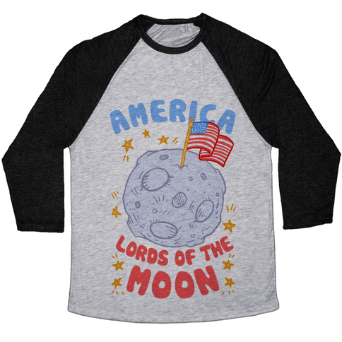 America: Lords of the Moon Baseball Tee