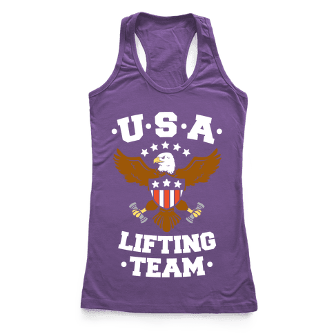 U.S.A. Lifting Team Racerback Tank Top