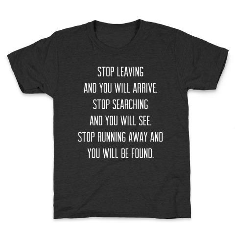 Stop Leaving Kids T-Shirt