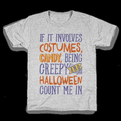 Halloween Count Me In Kids T-Shirt