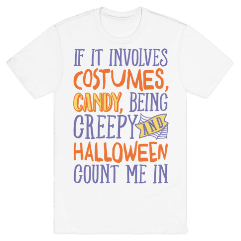 Halloween Count Me In Mens T-Shirt