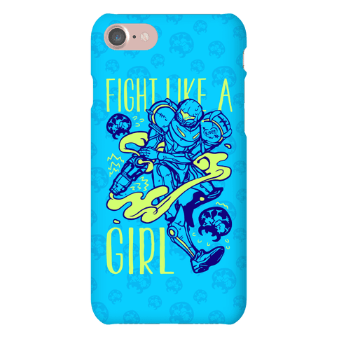 Fight Like A Girl Samus Parody Phone Case