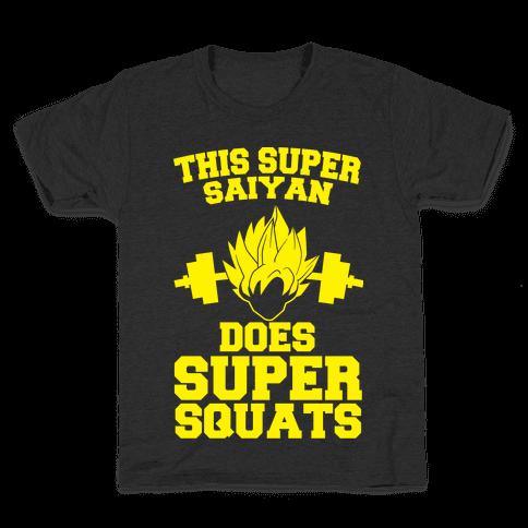 This Super Saiyan Does Super Squats Kids T-Shirt