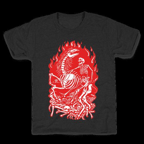 Skeleton War Kids T-Shirt