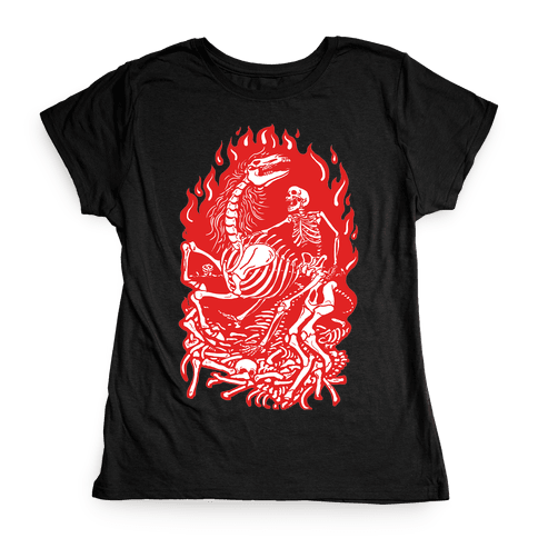 Skeleton War Womens T-Shirt