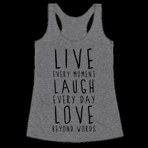 Live, Laugh, Love Racerback Tank Top