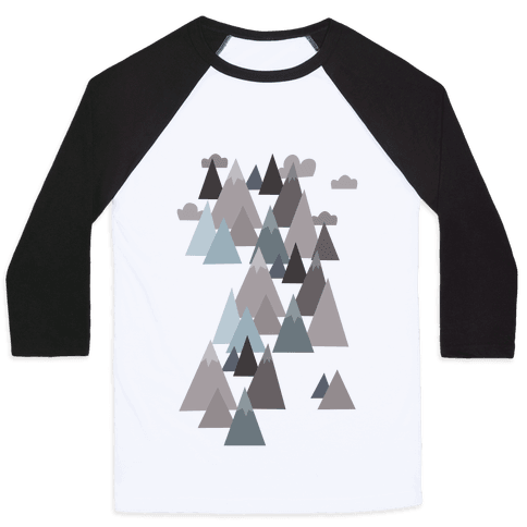 Winter Mountains Baseball Tee