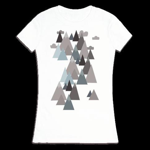 Winter Mountains Womens T-Shirt