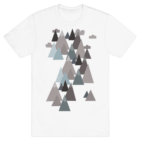Winter Mountains Mens T-Shirt