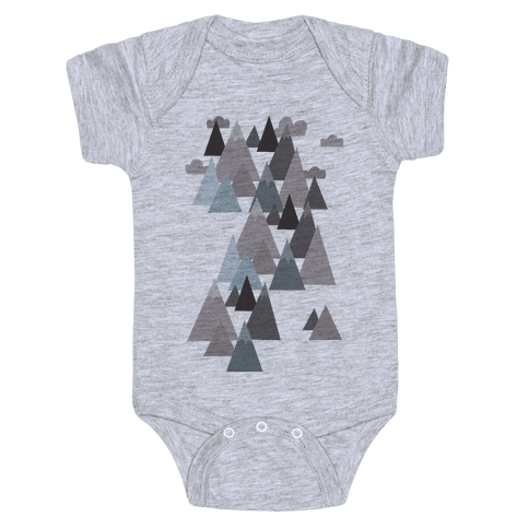 Winter Mountains Baby Onesy