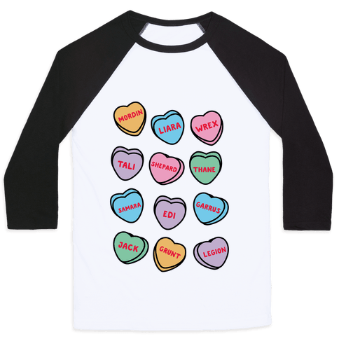 Candy Heart Squad Members Baseball Tee