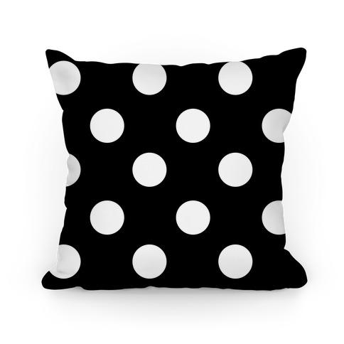 Big Polka Dot Pillow (black and white) Pillow