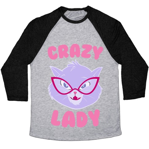 Crazy Cat Lady Baseball Tee