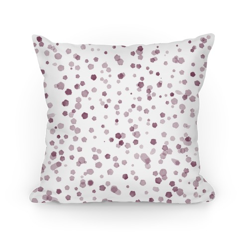 Polka Dot Watercolor Pattern Pillow