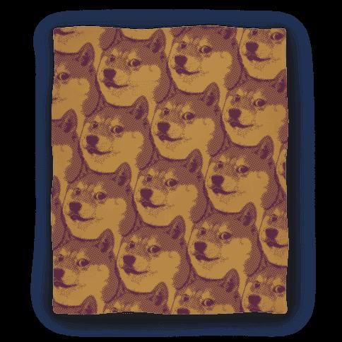 Doge Pattern ( Sepia) Blanket