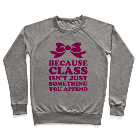 Because Class Pullover