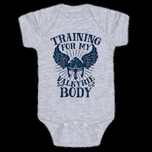 Training for My Valkyrie Body Baby Onesy