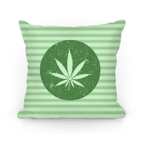 Weed Leaf Pillow Pillow