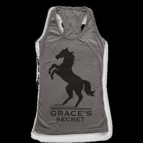 Grace's Secret Faux Fashion Logo Racerback Tank Top