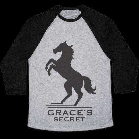 Grace's Secret Faux Fashion Logo Baseball Tee