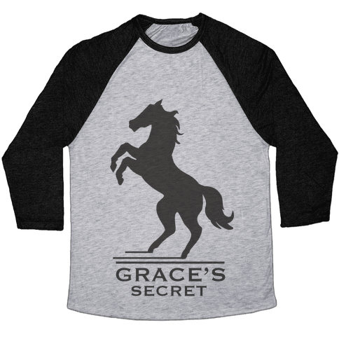 Grace's Secret Faux Fashion Logo Baseball Tee