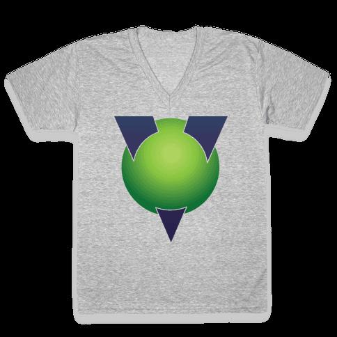 Vectorman V-Neck Tee Shirt