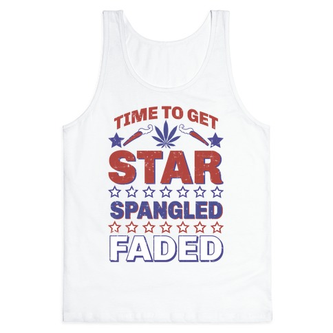 Star Spangled Faded Tank Top